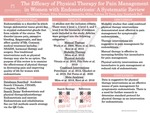 The Efficacy of Physical Therapy for Pain Management in Women with Endometriosis: A Systematic Review