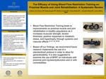 The Efficacy of Using Blood Flow Restriction Training on Proximal Muscle and Joint Rehabilitation: A Systematic Review